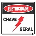 Placa SINALIZACÃO Eletricidade Chave Geral (20X15X0,80MM)