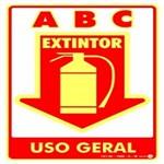Placa SINALIZAÇÃO Ext. ABC Uso Geral Fotolum. (20X30)