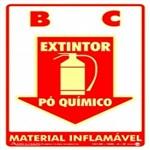 Placa SINALIZAÇÃO Ext. PÓ Quimico Fotolum. (20X30)