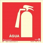 Placa SINALIZAÇÃO Extintor Agua Fotolum. (18X18)