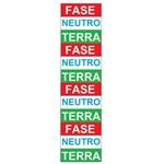 Placa SINALIZAÇÃO Fase/Neutro C/12 Adesivo Destacaveis (15X36X80MM)