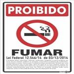 Placa SINALIZAÇÃO Proibido Fumar Lei Federal (20X30X0,80MM)