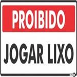 Placa SINALIZAÇÃO Proibido Jogar Lixo (13X30X0,80MM)