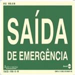 Placa SINALIZAÇÃO Saida de Emergencia Fotolum. (25X15)