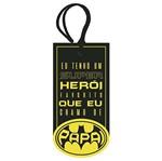 Placa TAG MDF Decorativa Litoarte DHT2-077 14,3x7cm eu Tenho um Super Herói