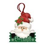Placa TAG MDF Decorativa Natal Litoarte DHT4N-001 8,2x7,5cm Papai Noel Acredite