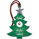 Placa TAG MDF Decorativa Natal Litoarte DHT5N-007 13,4x10cm Árvore com Guizo