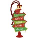 Placa TAG MDF Decorativa Natal Litoarte DHTN-020 14,2x7,2cm Luminária