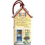 Placa TAG MDF Decorativa Natal Litoarte DHTN-018 15x8cm Casa