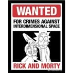 Placa Wanted Rick And Morty