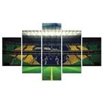 Placas Decorativas em MDF Bandeira do Brasil no Estádio 5 Un