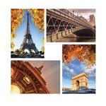 Placas Decorativas Paris Fotos para Sala MDF 30x40 Kit 4un