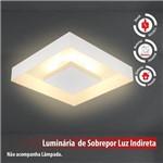 Plafon de Luz Indireta Sobrepor 45x45cm para 4 Lâmpadas E27 Branco