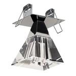 Plafon Embutido 7401 Cromo para 1 Lâmpada - 1 Peça Montada (não Acompanha Lâmpada)
