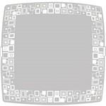 Plafon Mosaico Quadrado Médio 28x28cm Metal/Vidro Branco - Attena