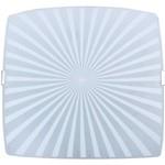 Plafon Radial Quadrado Médio 28x28cm Metal/Vidro Branco - Attena