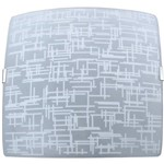 Plafon Textura Quadrado Pequeno 21x21cm Metal/Vidro Branco - Attena
