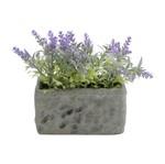 Plantas Artificiais Stone Vase Folhas Roxas