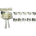 Plaquinhas Casamento Luxo - 10 Unidades