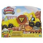 Play Doh Conjunto Wheels Escavadeira e Trator - Hasbro