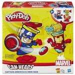 Play-Doh - Marvel Pote Heróis - Capitão América Homem de Ferro B0745