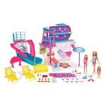 Playset e Boneca Barbie - Viaje no Navio Cruzeiro - Mattel