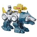 Playskool Power Rangers Silver Ranger e Wolf Zord - Hasbro
