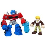 Playskool Transformers Boneco com Robo Rescue BOTS Optimus Prime e CODY BURNS Hasbro A0672 8273