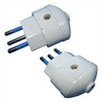 Plugue Desmontável 3 Pinos (2+T) - Dni 7024 - 2 Unidades