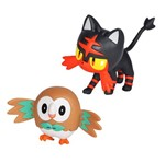 Pokémon - Battle Figure Pack Rowlet e Litten - DTC