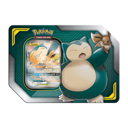 Pokemon Latas Aliados GX Eevee e Snorlax - Copag