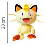 Pokemon Pelúcia Meowth 20 Cm - DTC