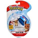 Pokemon Pokebola Clip N Go com Clips Eevee - DTC
