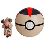 Pokemon Pokebola com Clips Rockruff - Dtc