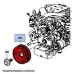 Polia do Motor Dianteira Virabrequim 12565992 Omega
