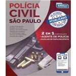 Policia Civil de Sao Paulo - Pc Sp - 2 em 1 - Agente de Policia e Auxiliar de Papilocopista
