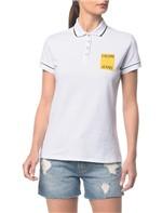 Polo Ckj Fem Logo Calvin Jeans - Branco 2 - PP