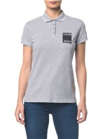 Polo Ckj Fem Logo Calvin Jeans - Mescla - PP