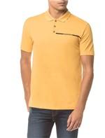 Polo Ckj Mc Est Logo Palito - Amarelo Ouro - PP