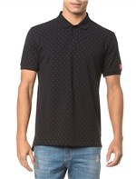 Polo CKJ Mc Estampada Total CK - Preto - PP