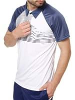 Polo Esportiva Manga Curta Masculina Local Branco/azul