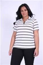 Polo Feminina Canelada Plus Size Off White G