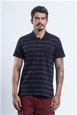 Polo Jacquard Line Points Preto M