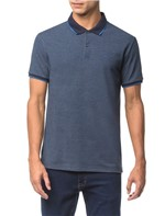 Polo Regular Corpo Mescla Gola Colorida - Indigo - PP
