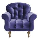 Poltrona Cadeira Dani para Recepção Sala Escritório Quarto Suede Cinza - AM DECOR