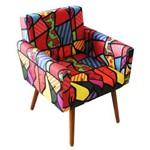 Poltrona Cadeira Decorativa Beatriz Recepção Sala de Espera Escritório Est. Romero Brito Colorido - AM DECOR