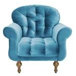 Poltrona Decorativa para Sala e Escritório Dani Suede Azul