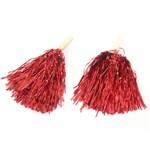 Pompom Metalizado - Vermelho