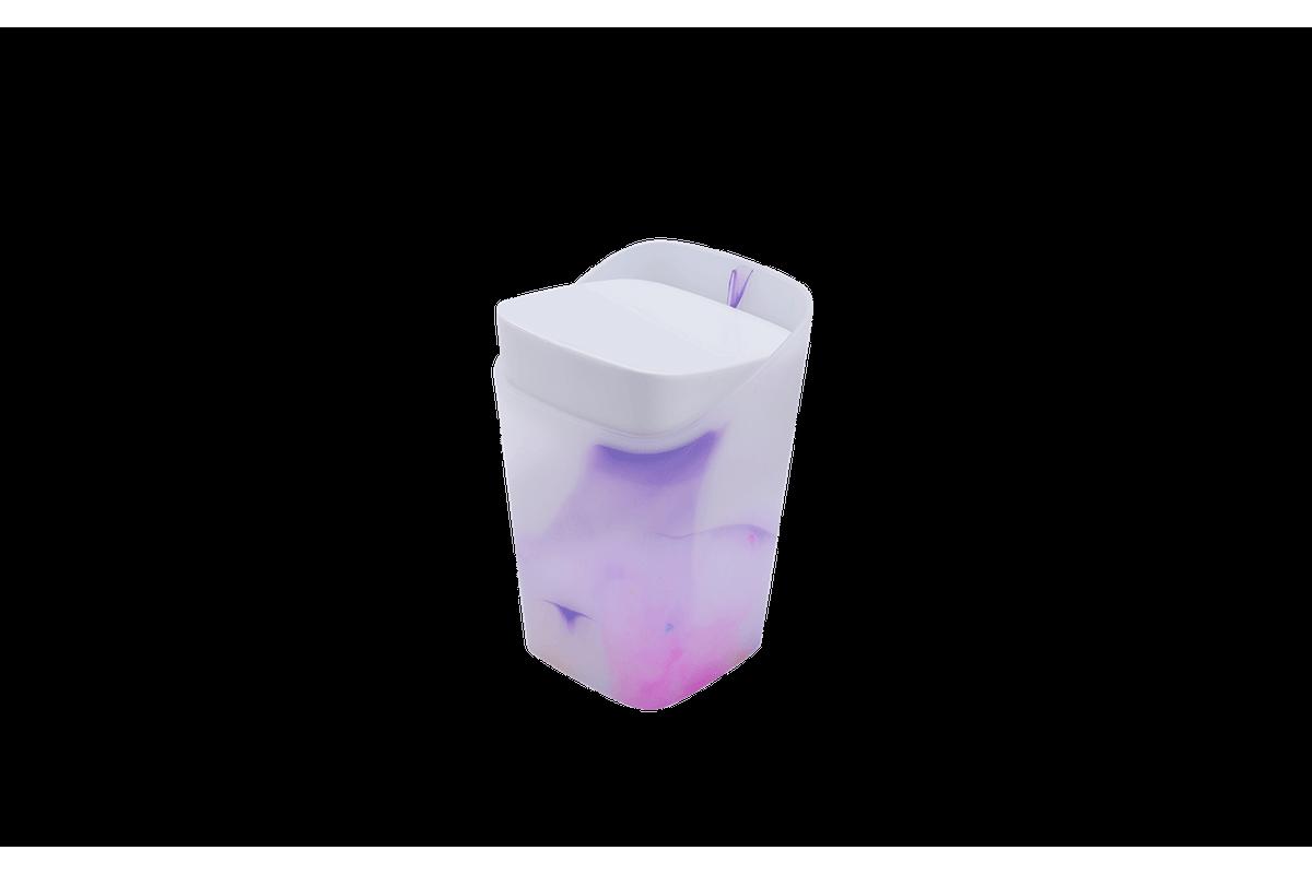 Porta-Algodão - Cores 8,2 X 8,2 X 12,3 Cm Colorido Coza