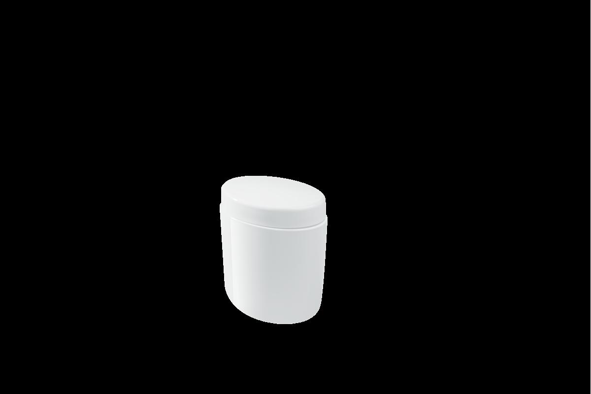 Porta-algodão/cotonete Full - BC 10,6 X 7,7 X 11,8 Cm Branco Coza